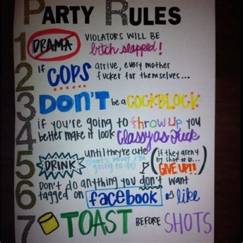 house party rules house rules funny pinterest