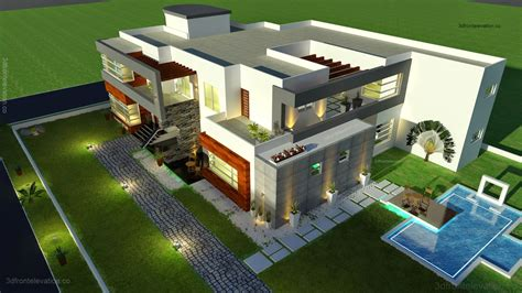 house plan 3d 3d front elevation com 500 square meter modern contemporary house plan design 3d