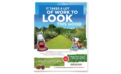 landscaping flyers templates landscaping flyer template word publisher