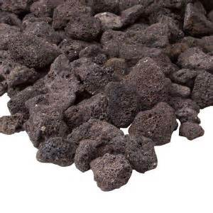 real black lava rock l10001 bkl the home depot