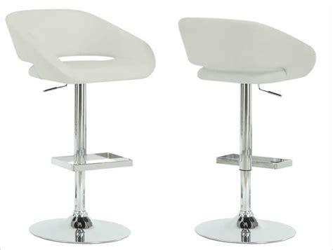 modern white bar stools 35 stylish modern adjustable white leather bar stools