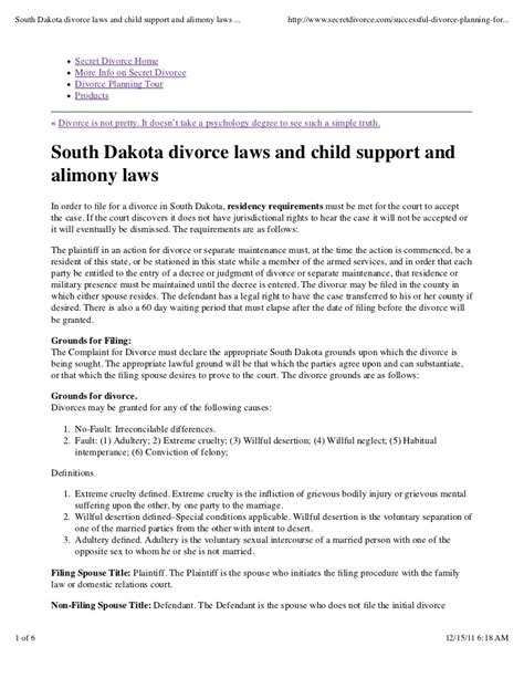 divorce summons template south africa south dakota divorce laws and child support and alimony