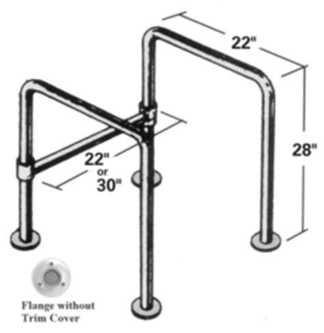 Floor Mounted Safety Grab Bars For Toilets by Grab Bar Stainless Steel Floor Mount Straddle Bar 22