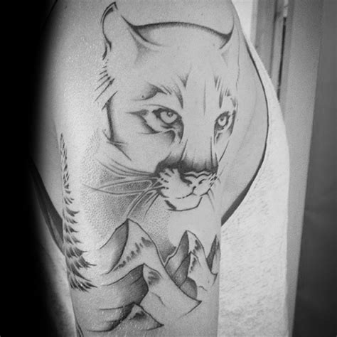 cougar mountain lion tattoo designs 40 mountain designs for animal ideas