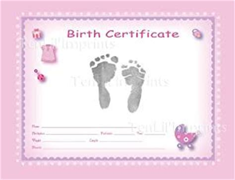 Buy TenLil'Imprints Birth Certificate Kit, Pink/Black