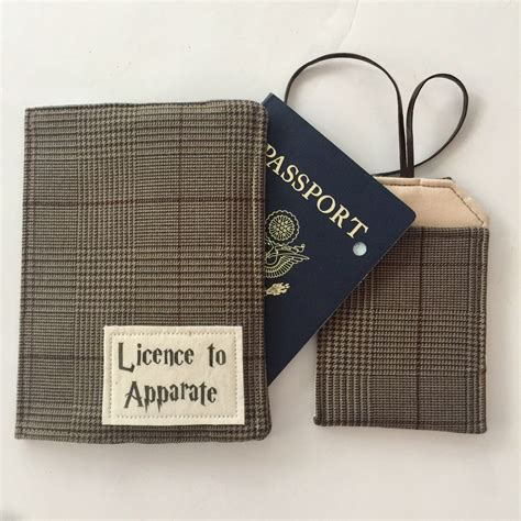 Fossil Plaid Passport Wallet New With Tag passport cover luggage tag travel set harry potter inspired