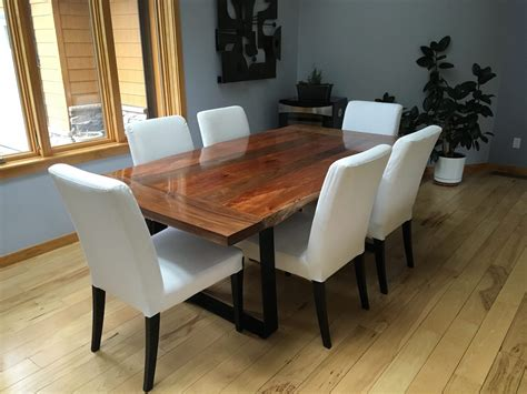 slab dining room table neal s slab dining table the wood whisperer
