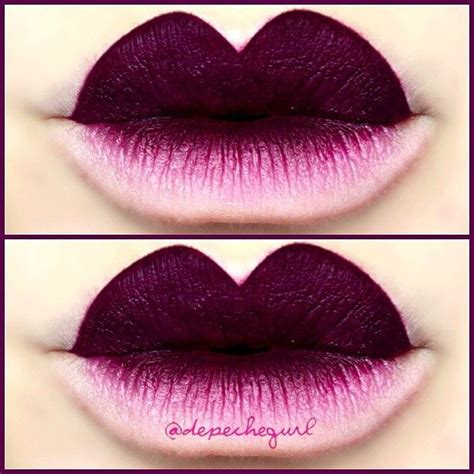 Ombre Lipstick Burgundy 42 best ombre and two toned images on cigarette holder mouths and makeup
