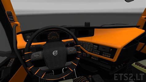 Volvo 2012 Black Orange Interior Ets 2 Mods | volvo 2012 black orange interior ets 2 mods
