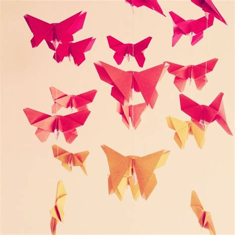 Origami Butterfly Mobile - 17 best images about how to make paper flowers paper