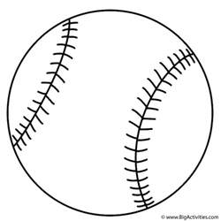 what color is a softball baseball coloring page sports
