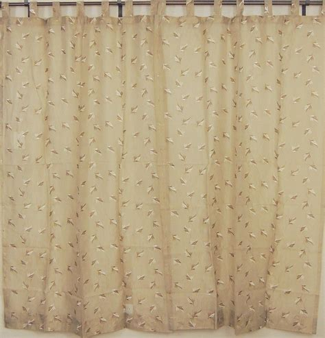 embroidered window curtains tab top sheer panels 2 embroidered ecru decorative window