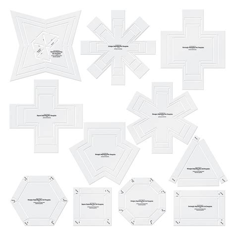 exploding box template exploding box stencil templates trading