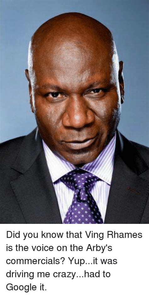 the voice of arbys commercials did you know that ving rhames is the voice on the arby s