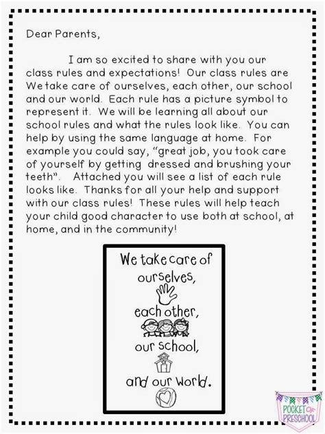 classroom and expectations in preschool pocket of