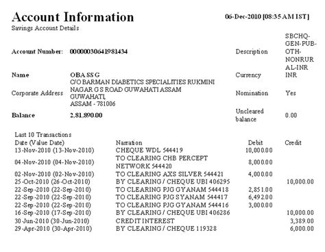 Sle Credit Account Letter 28 Bank Statement Sbi For Visa Sle Letter Format For
