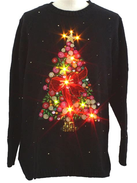 led christmas sweater lights cashmere sweater england