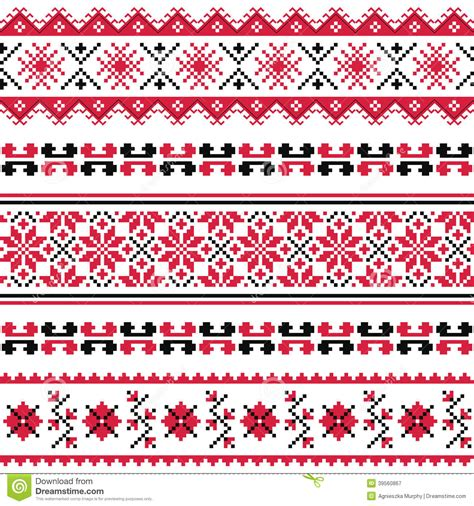 ukrainian pattern vector ukrainian folk emboidery pattern or print stock