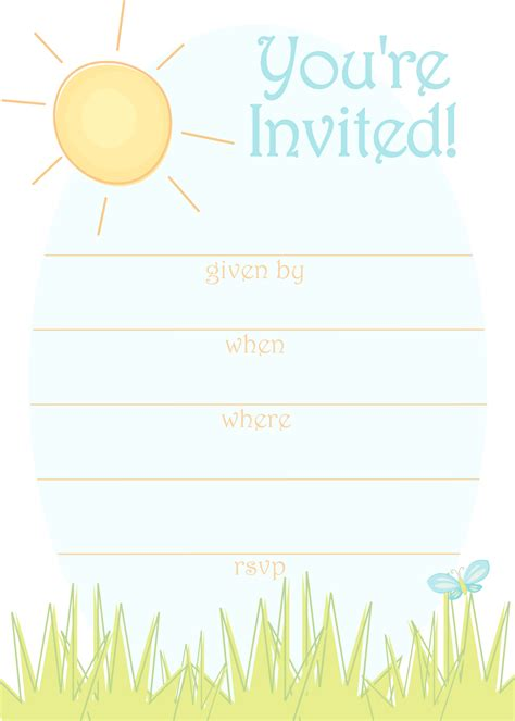 free printable birthday invitations without downloads free printable party invitations sunny day invitation for