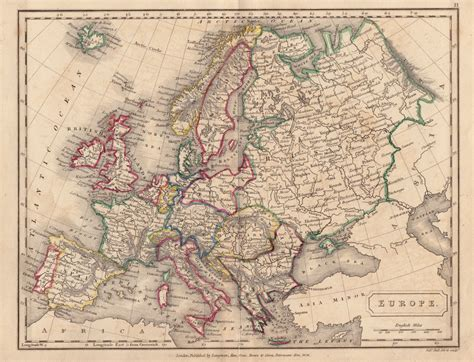map of whole europe whole of europe antique maps gillmark gallery