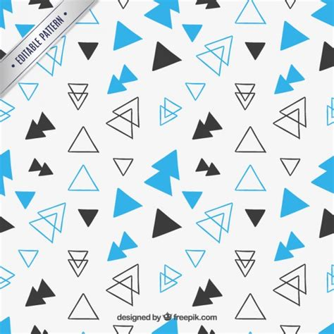 triangle pattern ai download hand drawn triangles pattern vector free download