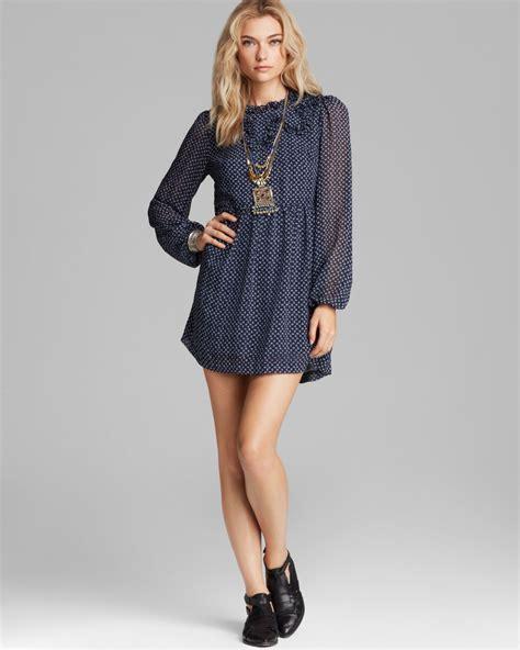 New Produk 43511 Dress Butterfly lyst free nouveau butterfly dress in blue