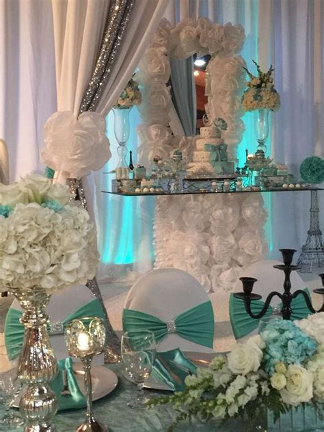 quinceanera themes tiffany blue 302 best tiffany s party ideas images on pinterest