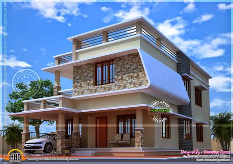 modern house with free floor plan kerala home