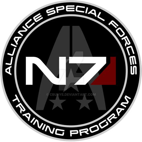 mass effect n7 training program custom logo by cbunye on