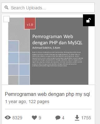 buku membuat website dengan php dan mysql 2 buku gratis bahasa pemrograman web dengan php dan mysql