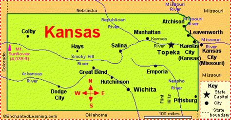 State Map Of Kansas by The Daily Apple July 2005