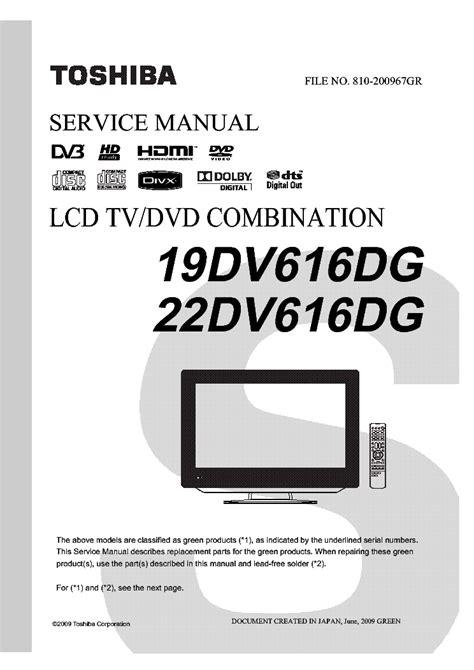 Toshiba 32av833g Service Manual Free Download Schematics