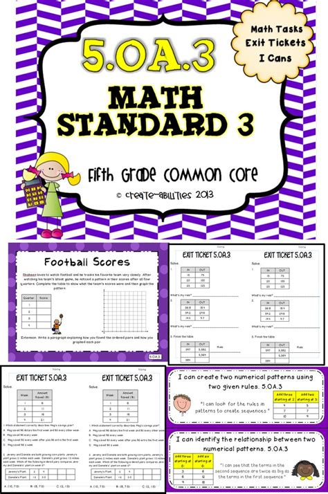 math pattern activities 5th grade patterns and graphing math tasks and exit tickets exit