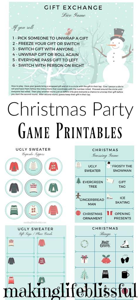 December Dice Printable