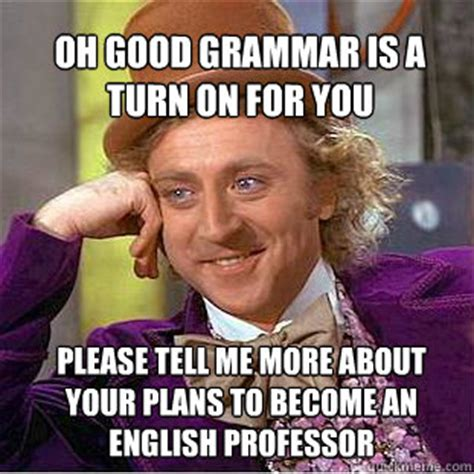 Turn On Memes - oh good grammar is a turn on for you please tell me more