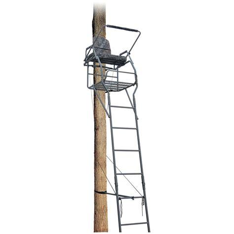 guide gear 18 jumbo ladder tree stand 177432 ladder