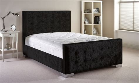 Groupon Uk Bed Frames Crafted Fabric Bed Frame Groupon Goods