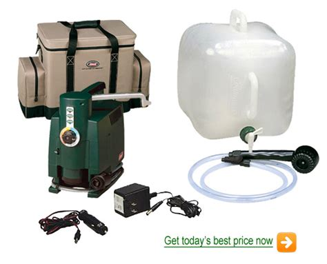 Propane Heated Outdoor Shower - coleman propane tent showers discount