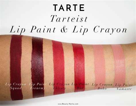 Tarteist Lip Crayon tarte tarteist lip paint lip crayon review swatches