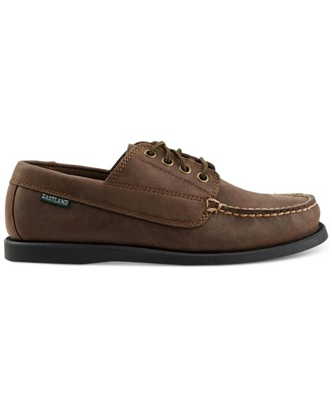 eastland boat shoes eastland eastland falmouth boat shoes in brown for lyst