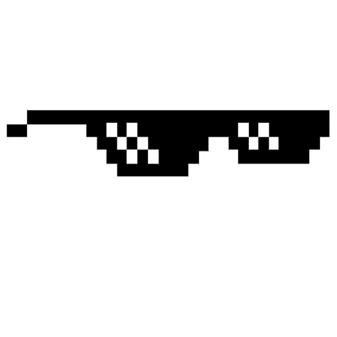 Deal With It Glasses quot pixel glasses deal with it meme quot by martillova redbubble