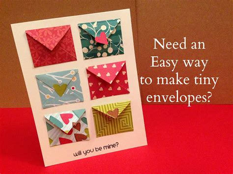 How To Make Tiny Envelopes Out Of Paper - how to make tiny envelope and a card tutorial