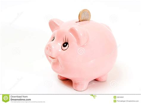 Small Retirement Home Plans by Pink Pig Money Box Isolated Stock Image Image 23018301