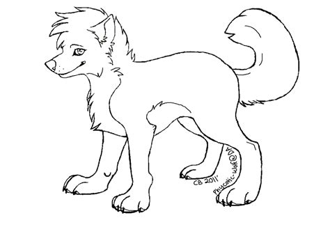wolf template wolf outline drawing coloring home