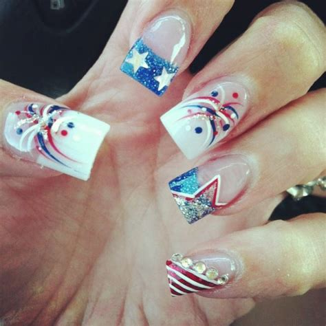 red acrylic 4th of july nils 192 best images about fourth of july patriotic nail