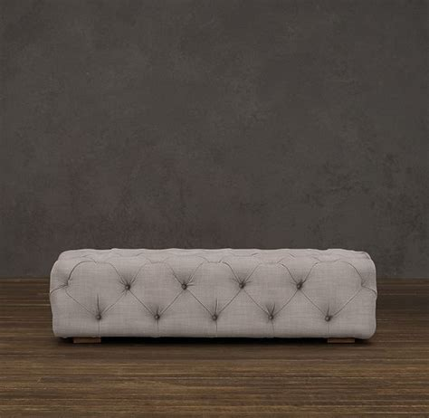 restoration hardware tufted ottoman pin by on larkspur