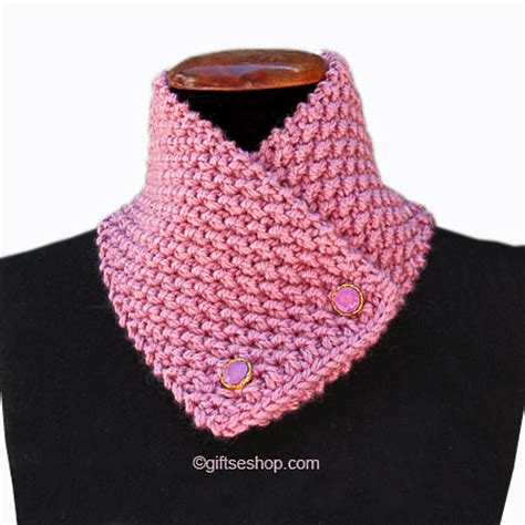 pattern knit cowl neck scarf cowl knitting pattern button scarf short scarf knitted