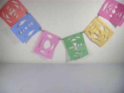 como se hacen cadenas de papel crepe como hacer un banderin con papel de colores