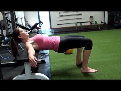bench bridge exercise best butt exercises glute bridge vs hip thrust youtube