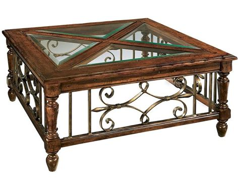 Glass And Wood Coffee Table Glass Wood Coffee Table Rue De Bac Square By Hekman He 87215